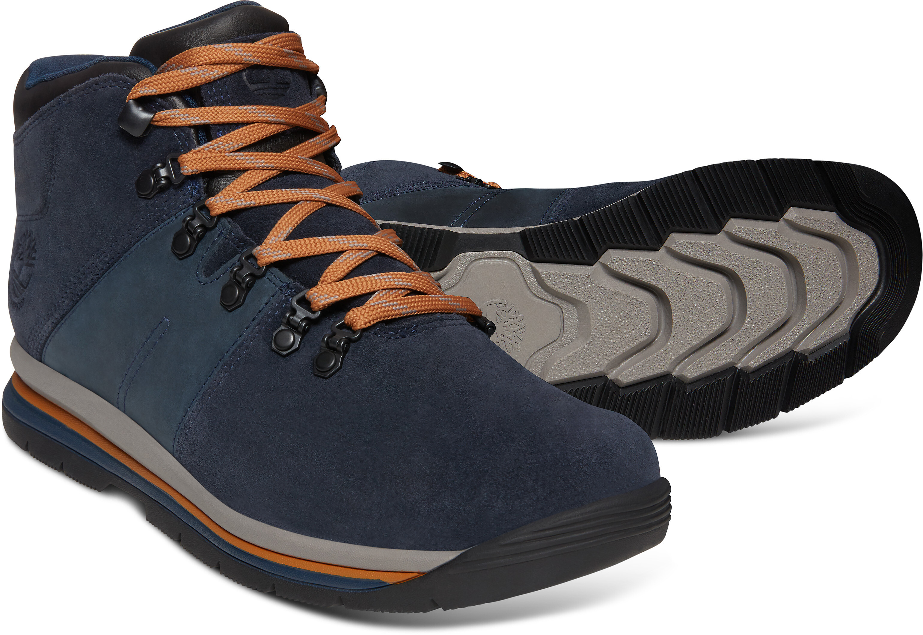7bb2f502e05 Timberland GT Rally Mid Leather WP - Chaussures Homme - bleu sur CAMPZ !